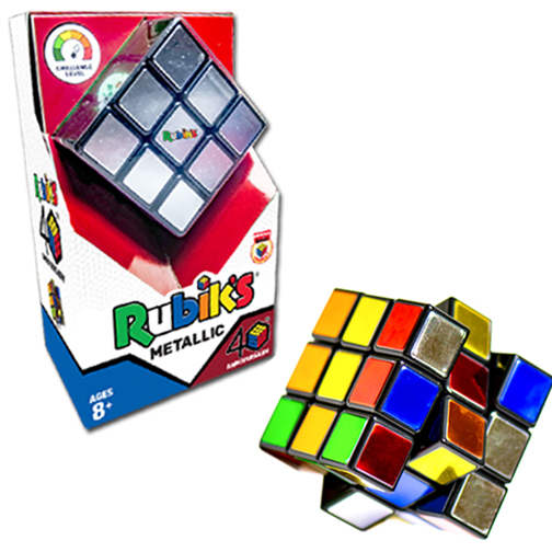 Rubik's® 40th Anniversary Metallic Cube